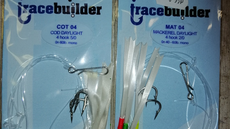 Daylight rig - 4 hooks various sizes - tracebuilder