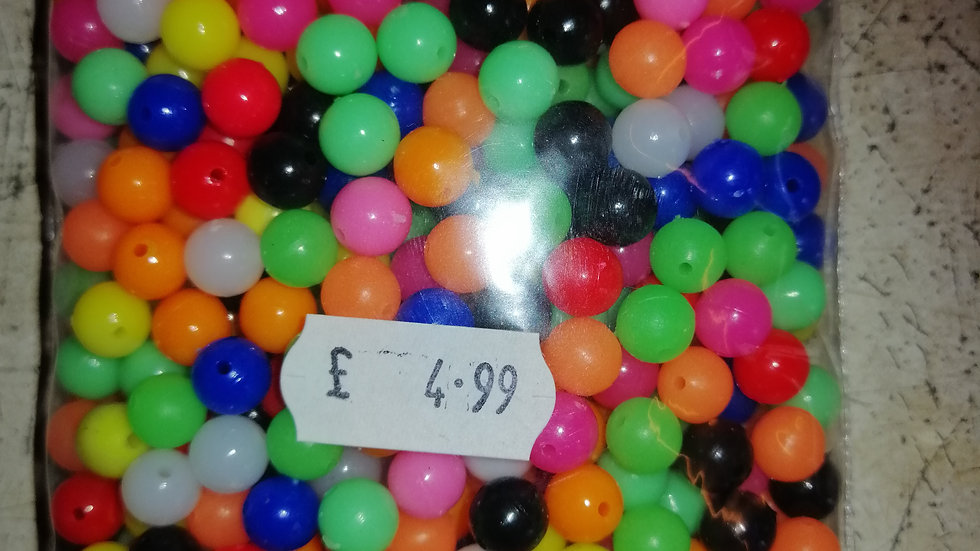 8mm mixed beads bulk (135g pack) approximately x500