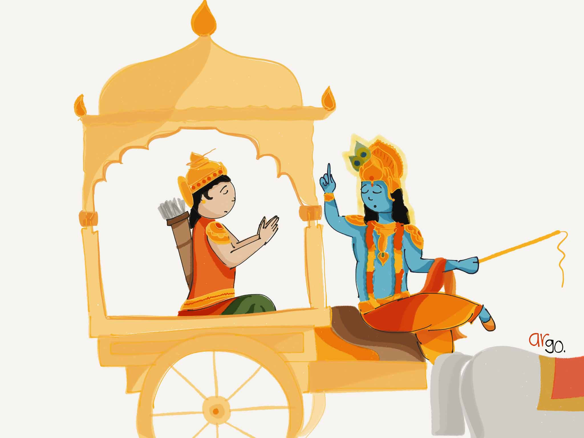 Arjun and Krishna | Wall Art
