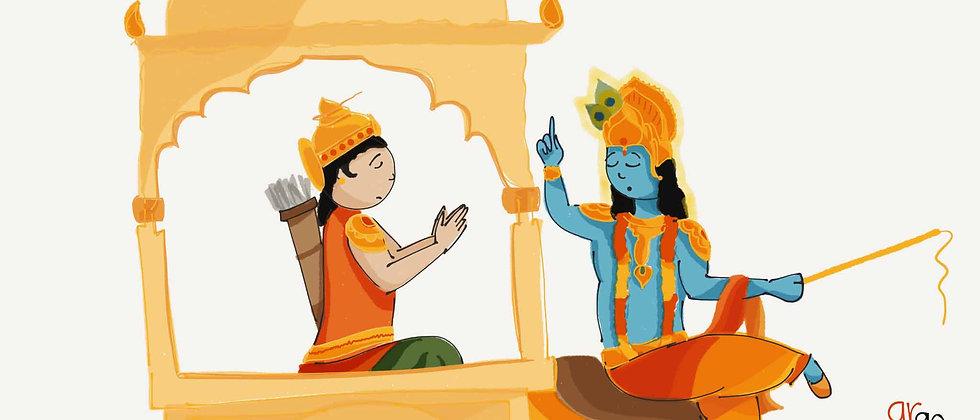 Arjun and Krishna | Wall Art