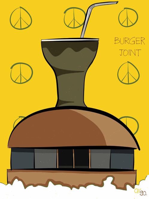 Burger Joint   Wall Art   Illustrations   India   Argo ...