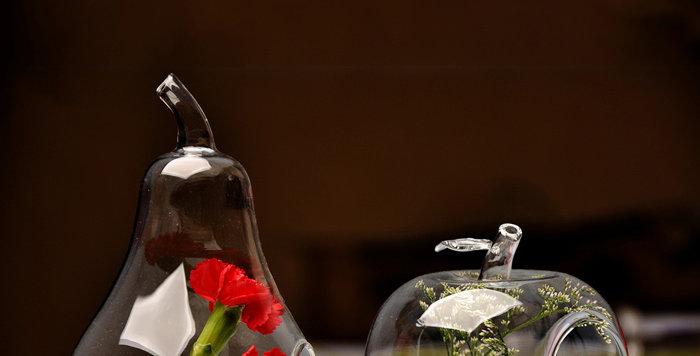 bình thủy tinh treo hình quả lê