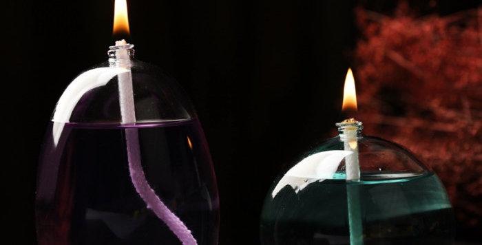 đèn dầu thủy tinh trang trí