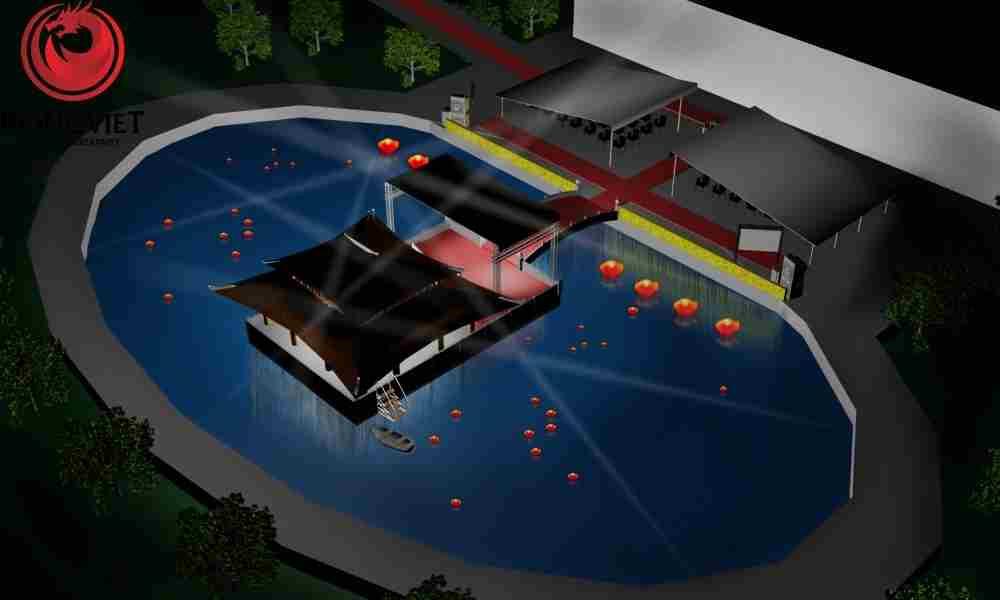 Thiết kế 3D mô phỏng sân khấu chương trình