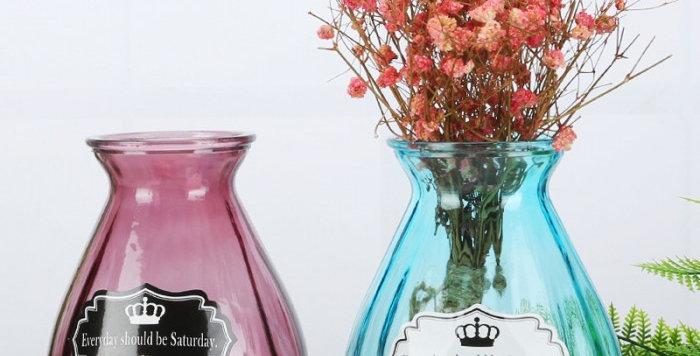 bình cắm hoa thủy tinh bầu dục