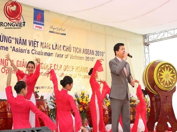 Buổi lễ có sự tham dự của ca sĩ Lê Trọng Tấn