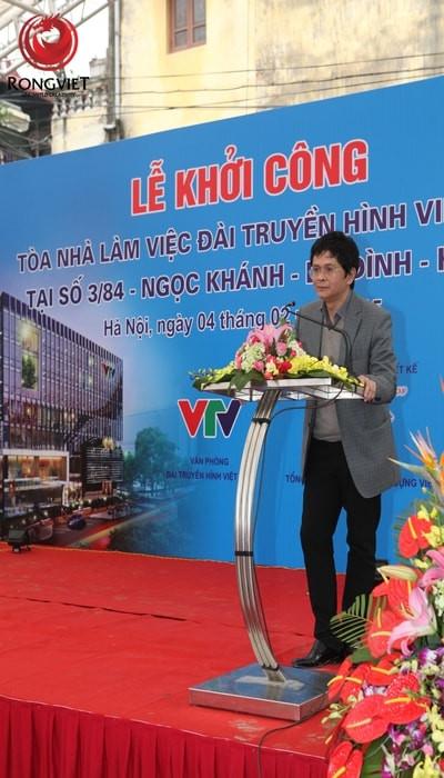 TGĐ Đài THVN Trần Bình Minh phát biểu chỉ đạo tại Lễ Khởi công.