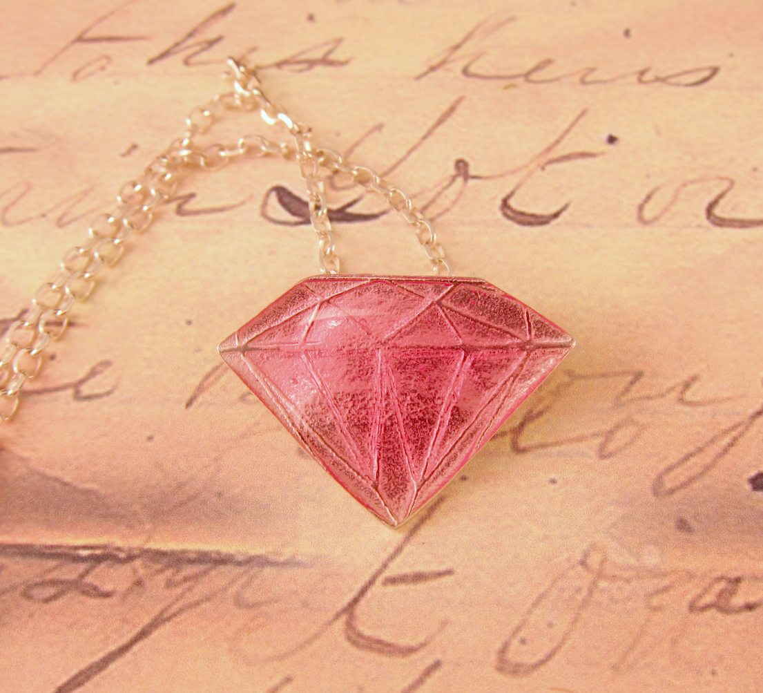 "Pink 'Diamond"" necklace."