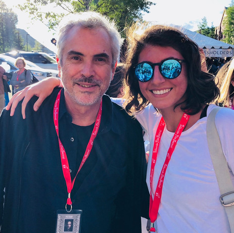 Hangin' with my new buddy Alfonso Cuaron at the Telluride Film Festival!