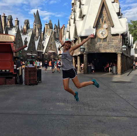 A rare non-crowded moment at the most magical place ever-- Harry Potter World, Florida!
