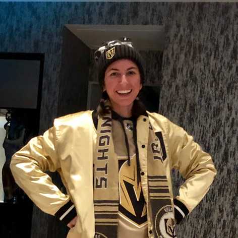"My ""Golden"" Knights outfit. Go Knights Go!!!"
