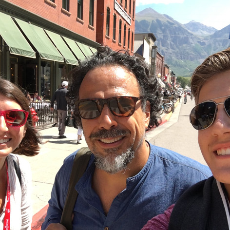 Posing with my brother, Julian, and Alejandro Inarritu at the Telluride Film Festival!