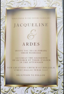 Wedding of our sister Jackie and Brother Ardes