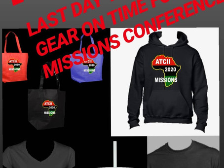 FRB 11 last day to get your Missions gear on time for the program.