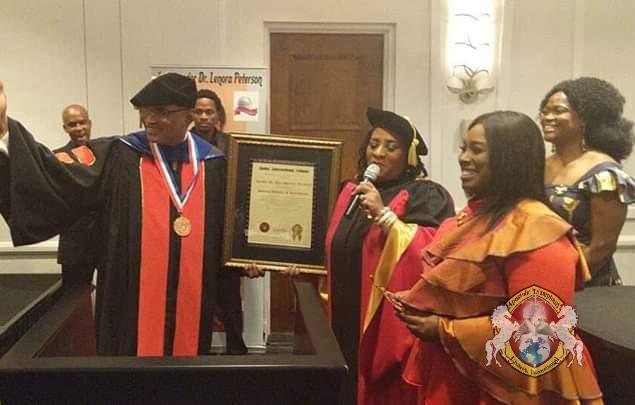 Honorary Doctoral of Hummanitarian Award Apostle Bala Success Abraham