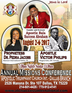2017 August Missions Conference Dallas