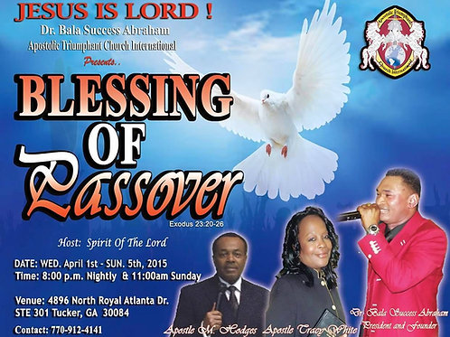 Blessing of Passover Audio CD