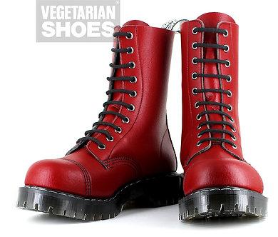 Airseal 10 Eye Boot Steel Toe (Red)