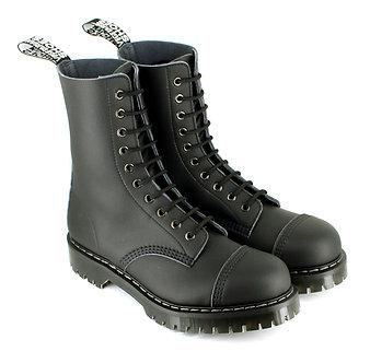 Airseal 10 Eye Boot Steel Toe (Black)