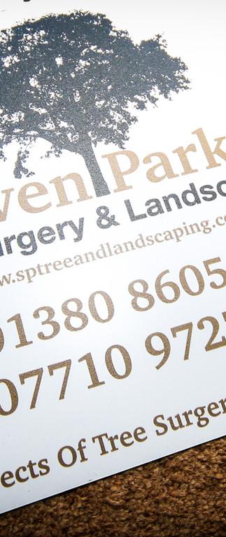 Steven Parker Tree Surgery & Landscaping - Signage