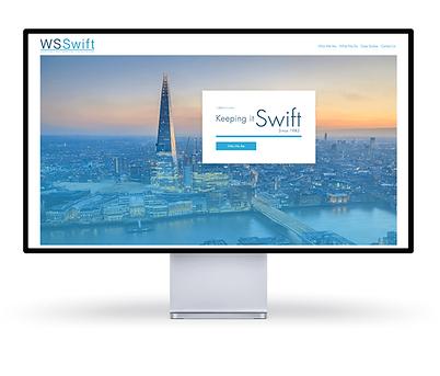 a website on screen