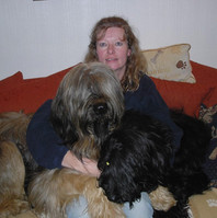 Debbie and Her Briard's - Group picture