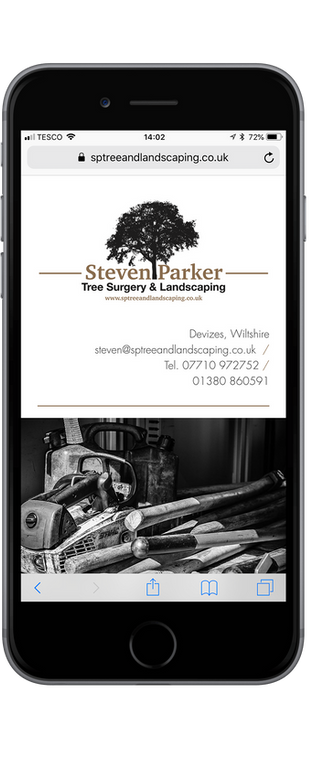 Steven Parker Tree & Landscaping - Web Design - B2B / B2C