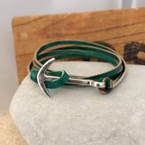 Anchor's aweigh! Multiwrap leather bracelet