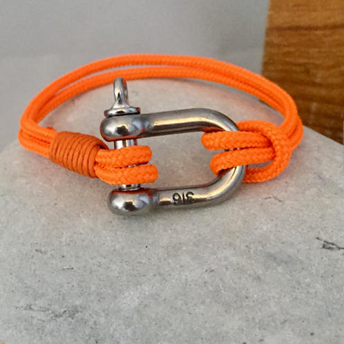 Sailing Cord/Rope with Steel Shackle Bracelet