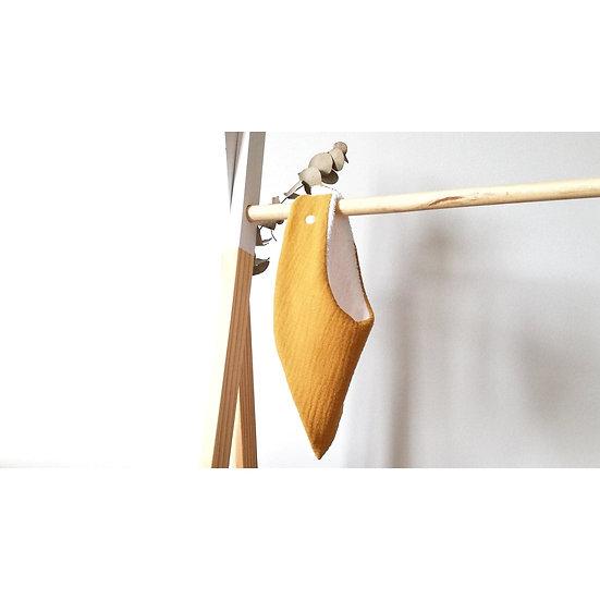 Bavoir bandana moutarde