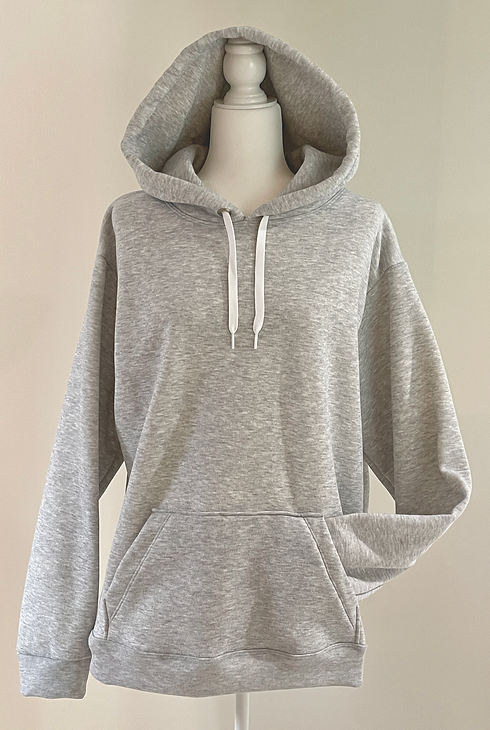 Detroit Sewn Cozy Unisex Hoodie Gray Front Pocket.png