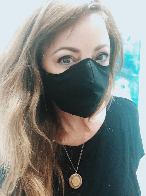 Adult Face Mask 5-Pack in Black