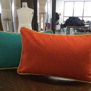 pillows with piping
