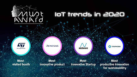 Must VE - Must Awards - Trending now at sf2p consulting - ST Microelectronics, Renesas Electronics, Nestwave, Truphone
