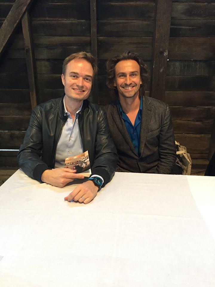 Avec Nicolas Fargues, mai 2016