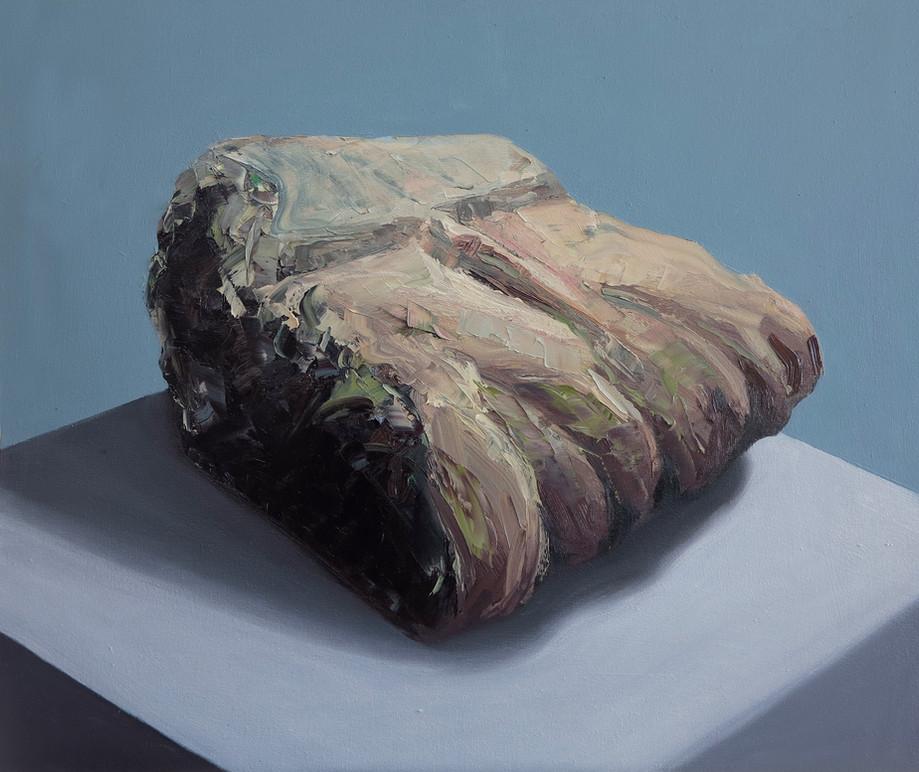 '-3.45kg Greece' Oil on canvas, 90x70cm.