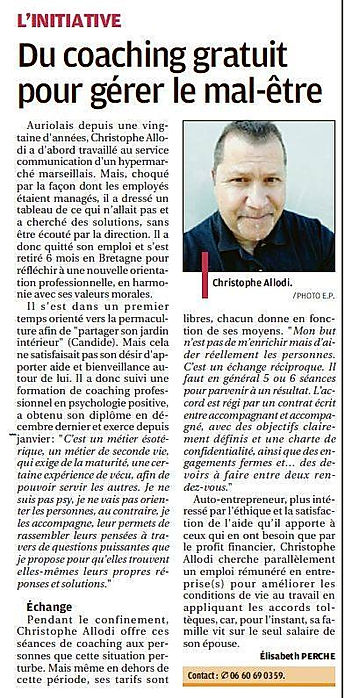 article La Procence avril 2020 .jpg