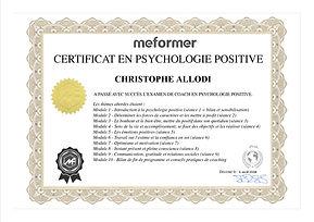 Certification COCH PSYCHOLOGIE POSITIVE