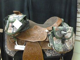 Saddle With Camo Gear