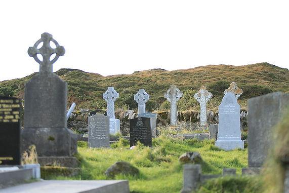 Celtic Cemetary Ireland walking hiking tour