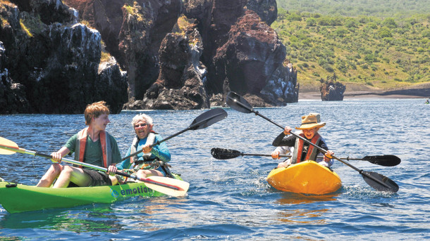 Kayak with the penguins
