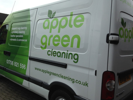 Bold New Look For Apple Green Cleaning Vans!