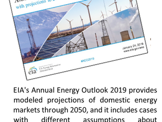 The EIA has published its Annual Energy Outlook 2019.