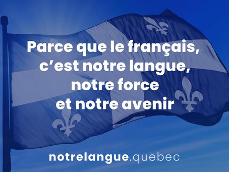 LE PARTI LIBÉRAL PRÉSENTE 27 PROPOSITIONS POUR L'AVENIR DE LA LANGUE FRANÇAISE