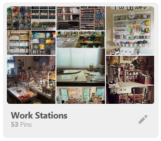 Pinterest collage of workstation board
