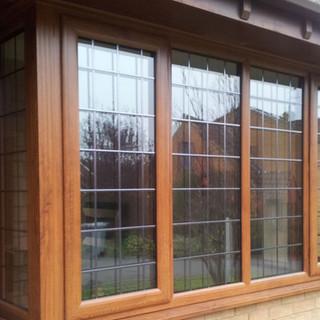 Wooden effect windows