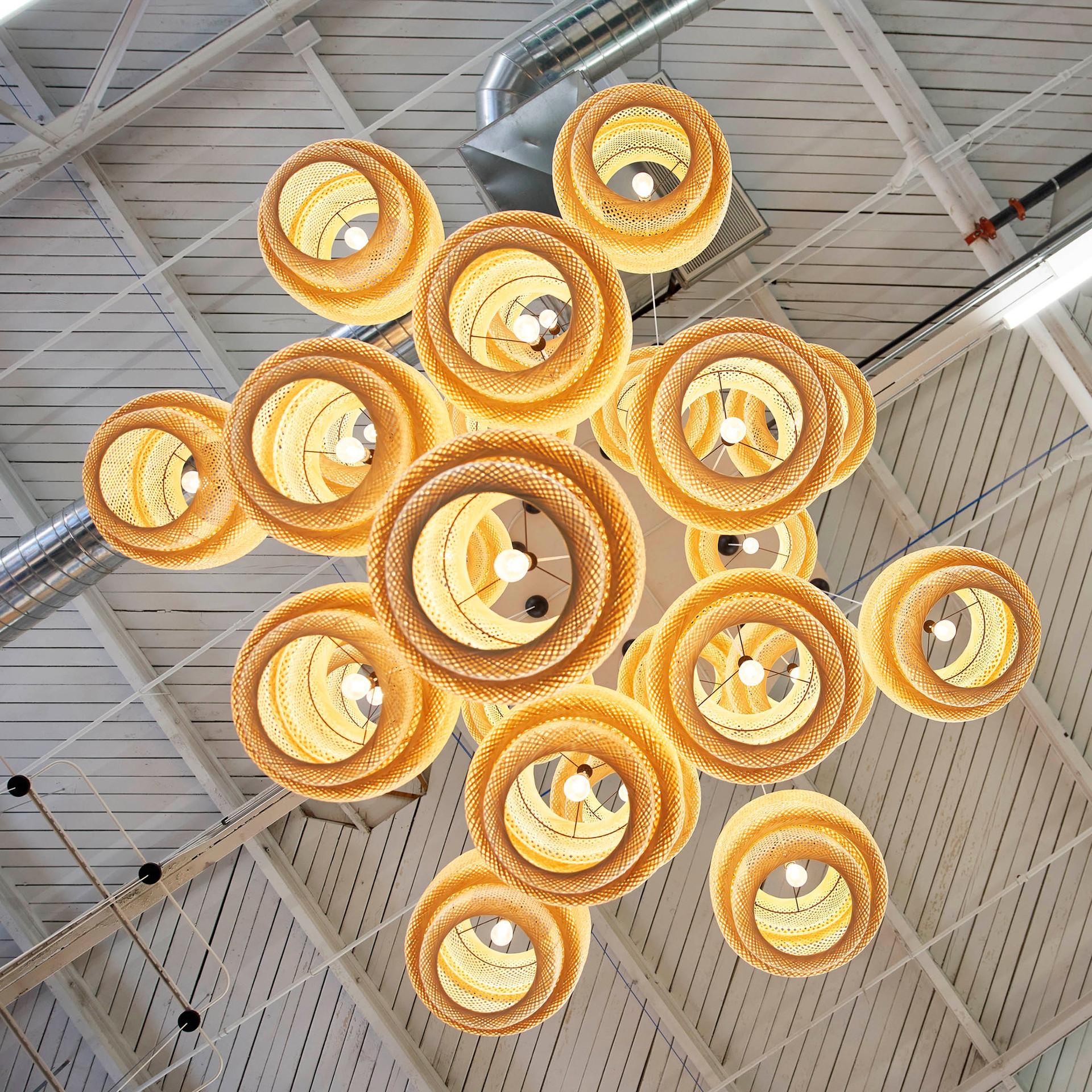 Custom Inexpensive Lighting in Farmer's Fridge Start-Up Office | Kuchar