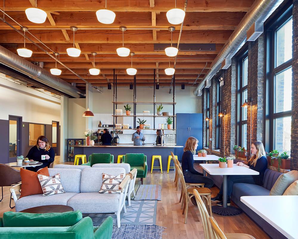 Farmer's Fridge office employee lounge in Near West Side, Chicago | Kuchar