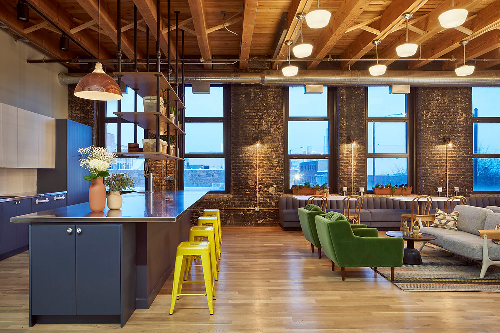 Farmer's Fridge startup office employee lounge in Near West Side, Chicago | Kuchar