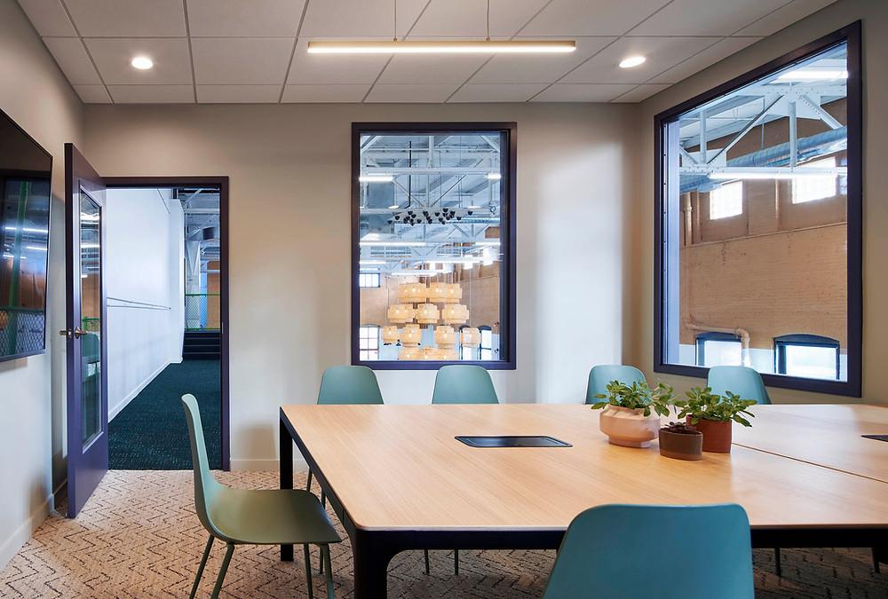 Mezzanine conference room in Farmer's Fridge open office in Near West Side, Chicago | Kuchar